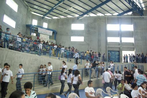 Dentro del Gimnasio